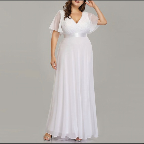 🔆Goddess Simple Pleated🔆 Maxi Dress Plus Size Boutique